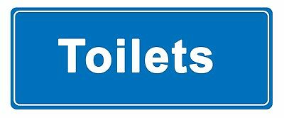 Toilets - in blue - Information Self Adhesive Labels 100mm x 148mm 20ct