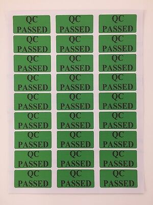 QC PASSED Labels Promotion Pack of 108 Stickers Each size 63 x 29 mm Quality