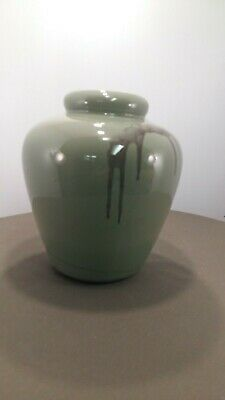 "Blue Mountain Pottery 9"" Celodon Vase"