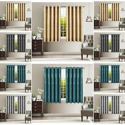 Thermal Blackout Pencil Pleat Small / Short Window Curtain For Bedroom Kitchen