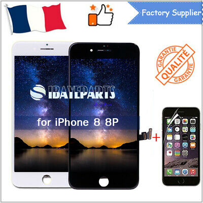 Vitre Tactile + Ecran Lcd Retina Iphone 8 / 8 Plus Noir / Blanc Aaa+ Film