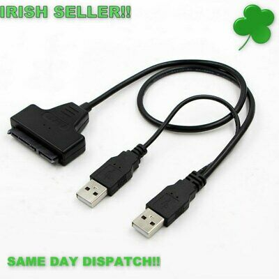 "USB 2.0 To SATA 7+15 Pin 22 Pin Adapter Cable for 2.5"" inch Hard Disk Drive HDD"