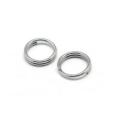 304 Stainless Steel Round Split Rings Silver 1.2 x 6mm  110+ Pcs DIY Jewellery