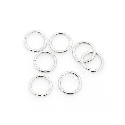 304 Stainless Steel Round Open Jump Rings Silver 1.2 x 12mm  30 Pcs Findings