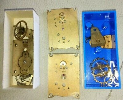 Three clock escapement parts(one Swiss) for a clock repairer