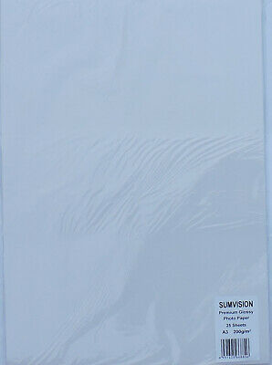 A3 200gsm Sumvision Single Sided Gloss Photo Paper (100 Sheets)