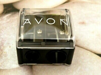 Avon Double Pencil Sharpener for Fat and Thin Pencils with Lid & Cleaning Tool