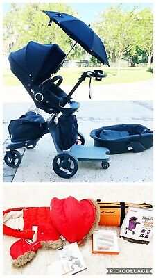 Stokke Xplory strollee:: True Black and LOADED with Accesories!   {retail $2131}
