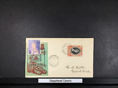Canada FDC 1953 Cachet Joint Issue Grand Turk Turk islands