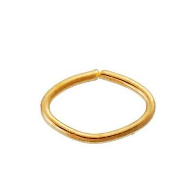 Packet 550 Gold Iron Alloy Oval Open Jump Rings 5 x 8mm Y09800