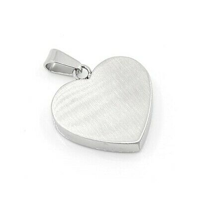 304 Stainless Steel Heart Stamping Blanks Silver 22 x 23mm   Findings Jewellery