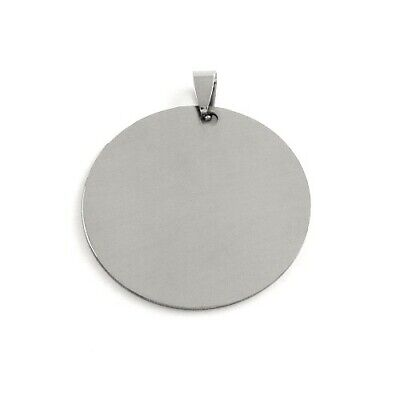 201 Stainless Steel Flat Round Stamping Blanks Silver 42mm  3 Pcs DIY Jewellery