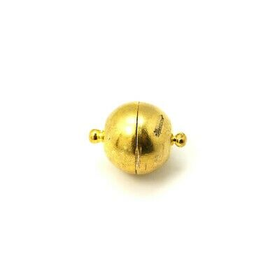 Brass Round Magnetic Clasps Gold 10 x 16mm  4 Pcs Findings DIY Jewellery Making