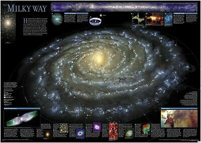 Map of the Milky Way Space Poster Art Print A1 A2 A3 A4 Maxi