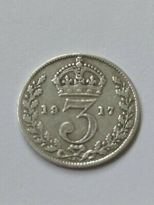 King George V Solid Silver Three Pence Pieces All Pre 1920 3d's WW1 Going Cheap!