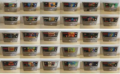 Super Nintendo(SNES) Spiele Zelda, Mario World/Kart, Donkey Kong, Street Fighter
