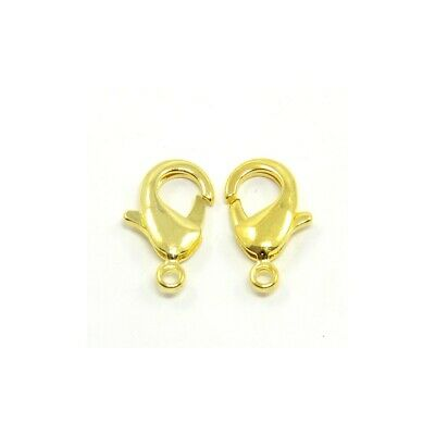 Brass Round Lobster Clasps Gold 10 x 18mm  4 Pcs Findings DIY Jewellery Making