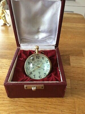 Elgin Desk Clock With Box