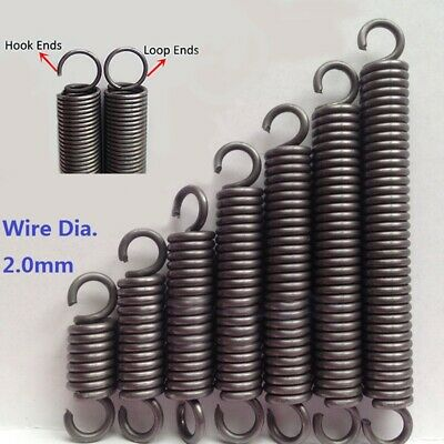 Expansion Extension Spring Extending Tension Spring Wire Dia.2.0mm OD 14mm-18mm