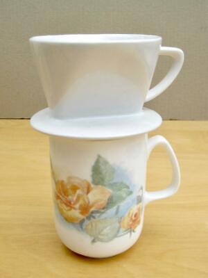 Coffee filter cone  Ceramic drip brewer maker  Small  Monmouth Coffee Co  Boxed