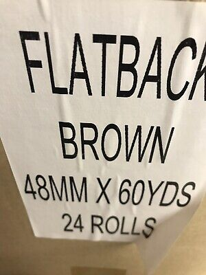 Flat Back Tape Brown Case Of 24