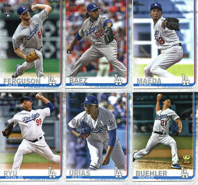 2019 Topps Complete (Series 1 & 2) Los Angeles Dodgers Team Set of 24 Cards