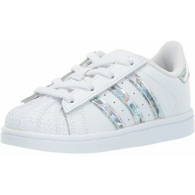 ADIDAS ORIGINALS SUPERSTAR CF I BlancVrai Rose Cuir Enfant