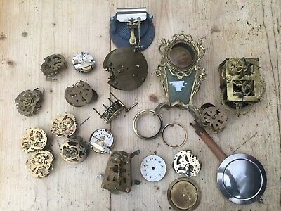 ** Large Lot Of Clock Spares Parts Movements **