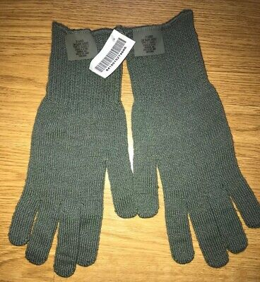 TAN FIELD WOOL GLOVES D3A LINERS MED LARGE NEW 10 Pair Military ACU FOLIAGE