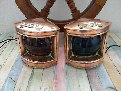 Nautical  / Marine Ships Port & Starboard Navigation Lamps Electric Wired.