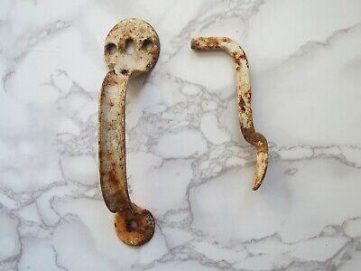 Antique Rustic Door Handle Thumb Latch Barn Door Hardware Rusty Iron Metal