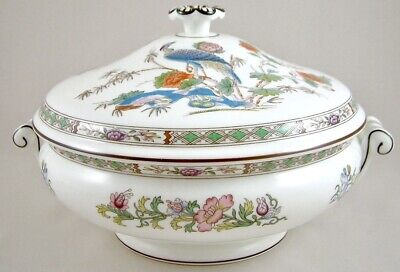 Wedgwood China Kutani Crane R4464 Covered Vegetable Tureen /Dish 1St Perfect!