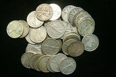 Walking Liberty Half Dollars 90% Silver Coin Lot, FINE or BETTER Choose How Many