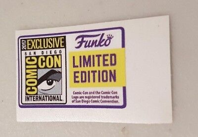 Funko POP! - Replacement Sticker - 2017 SDCC Ltd Edition (sold individually)