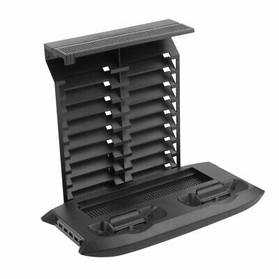 Cooling Fan Pad Xbox One Base Charger Disc Rack Set Console Cooler Black