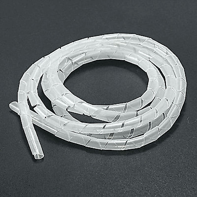 3/8 inch-Spiral-Cable-Wire-Wrap-Tube Harness-White-Full 25 Foot Rolls