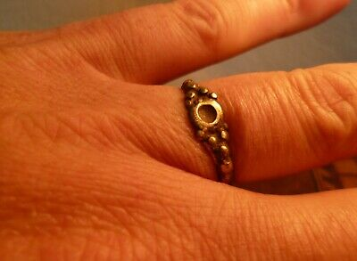 Gorgeous Late Medieval Or Tudor Highly Decorated Ring-British Detecting Find