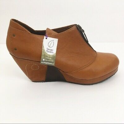 huge discount 16bc8 76c89 SERGIO TOMANI WOMEN'S Ankle Boots Green Leather Size 39 8.5 ...