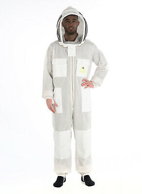 Professionals Beekeeprs Full 3 Layer Suit – Non-Flammable Fency Veil