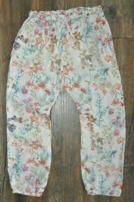 Next Girls Pink Light Beach Summer Holiday Trousers 5-6 Years Viscose