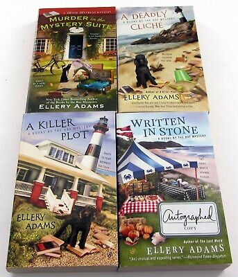 ELLERY ADAMS LOT of 8 Cozy Mystery PBs BOOKS BY THE BAY Series 1-8