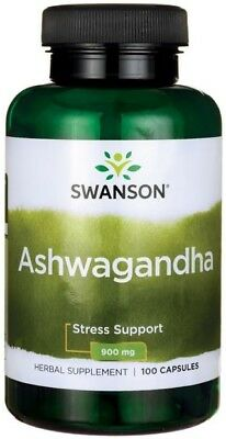 Swanson Ashwagandha 450mg x 100 Caps Stress & Fatigue Relief | FAST and FREE P&P