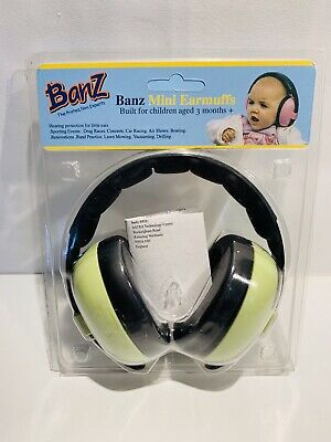 BANZ BABY MINI EARMUFFS, HEARING PROTECTION, Green, 3 MONTHS + PLUS,  NWOT