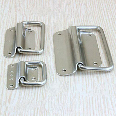 Stainless Steel Spring Folding Handle Pull Ring Handle for Cabinet Drawer N7