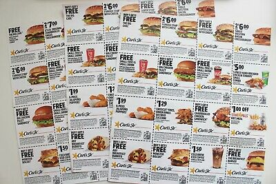 3 Sheets of Carl's Jr Coupons (Exp. 7/27 & 8/10)