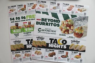 2 Sheets of Del Taco Coupons (Exp 8/11 & 9/2)