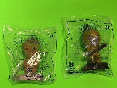 """NEW 2019 McDonalds The Avengers End Game """"GROOT #19 + THANOS  #23"""""""