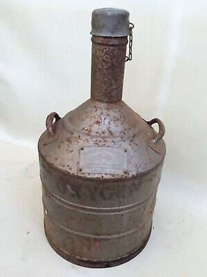 Old Steel&Copper Oxygen Storing Container