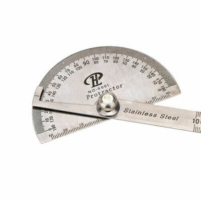 Stainless Steel 180 degree Protractor Angle Finder Arm Measuring Ruler Gauging