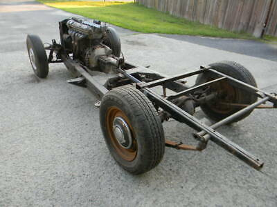 1954 JAGUAR XK120 ROADSTER  ORIGINAL CHASSIS WITH DRIVETRAIN ,  Free Shipping